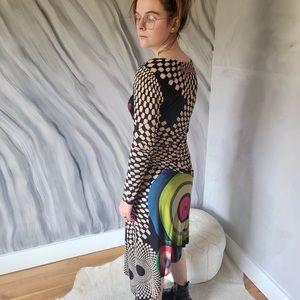 DESIGUAL funky asymmetrical long sleeve dress